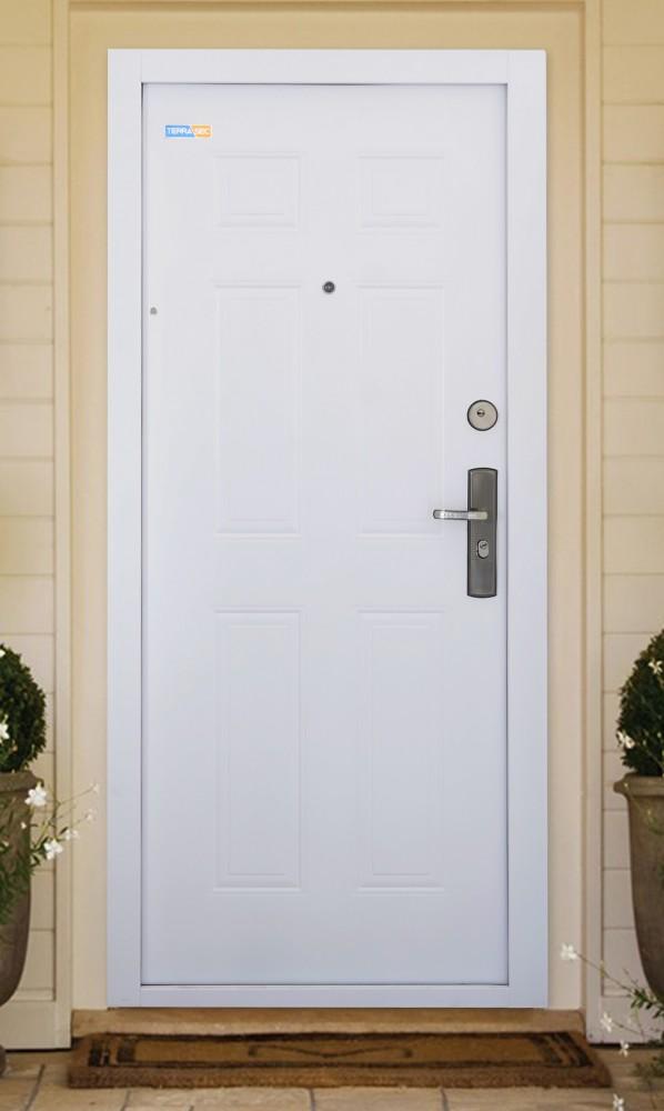 TerraSec fehér kültéri biztonsági bejárati ajtó