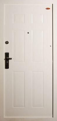 HiSec Fehér biztonsági ajtó bérházba