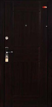 HiSec Sötétmogyoró biztonsági ajtó bérházba