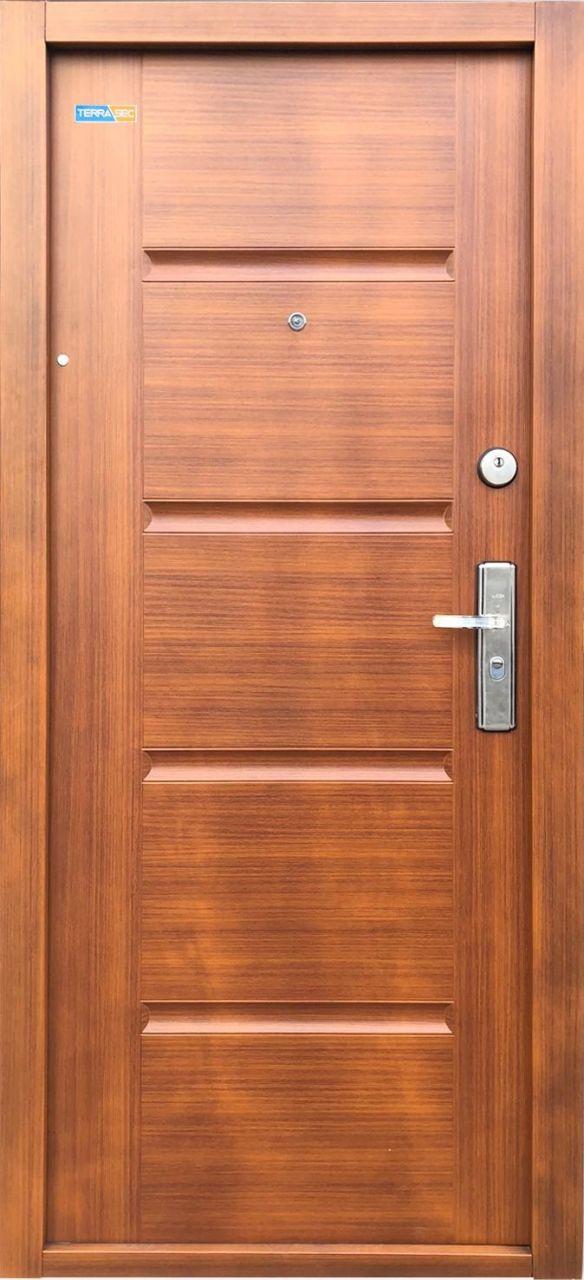 Aranytölgy TerraSec biztonsági ajtó lépcsőházba - Luxury Line mintával, Selyemfényű